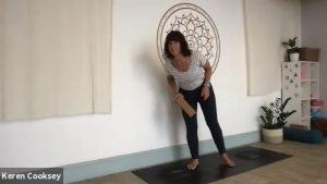 Leg focused vinyasa to handstand prep
